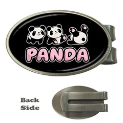 Panda  Money Clips (oval)  by Valentinaart