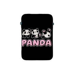 Panda  Apple Ipad Mini Protective Soft Cases by Valentinaart