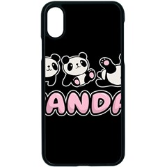 Panda  Apple Iphone X Seamless Case (black) by Valentinaart