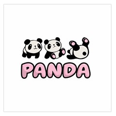 Panda  Large Satin Scarf (square)