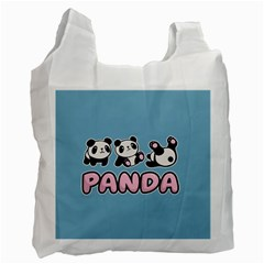 Panda  Recycle Bag (two Side)  by Valentinaart