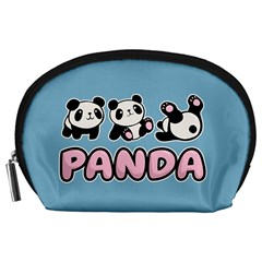 Panda  Accessory Pouches (large)  by Valentinaart