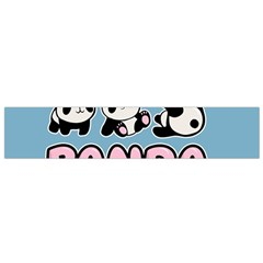 Panda  Small Flano Scarf by Valentinaart