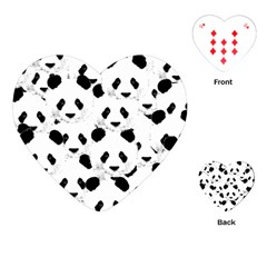 Panda Pattern Playing Cards (heart)  by Valentinaart