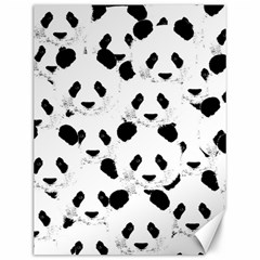 Panda Pattern Canvas 12  X 16   by Valentinaart