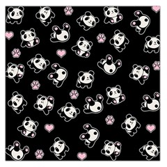 Panda Pattern Large Satin Scarf (square) by Valentinaart