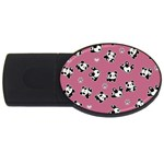 Panda pattern USB Flash Drive Oval (4 GB) Front