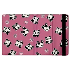 Panda Pattern Apple Ipad 3/4 Flip Case by Valentinaart