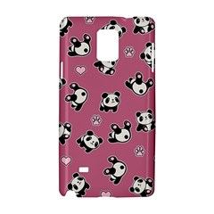 Panda Pattern Samsung Galaxy Note 4 Hardshell Case by Valentinaart