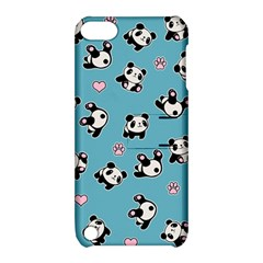Panda Pattern Apple Ipod Touch 5 Hardshell Case With Stand by Valentinaart