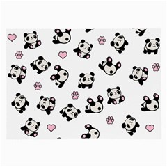 Panda Pattern Large Glasses Cloth (2 Side) by Valentinaart