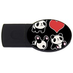 Panda Usb Flash Drive Oval (2 Gb) by Valentinaart