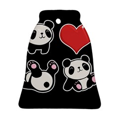 Panda Bell Ornament (two Sides) by Valentinaart