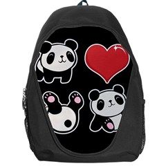 Panda Backpack Bag by Valentinaart