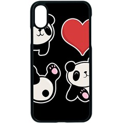 Panda Apple Iphone X Seamless Case (black)