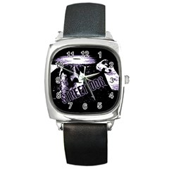 Street Dogs Square Metal Watch by Valentinaart