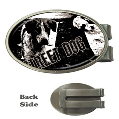 Street Dogs Money Clips (oval)  by Valentinaart