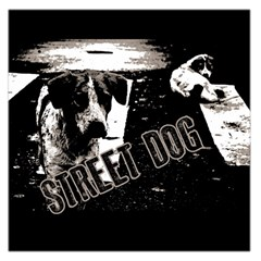 Street Dogs Large Satin Scarf (square) by Valentinaart