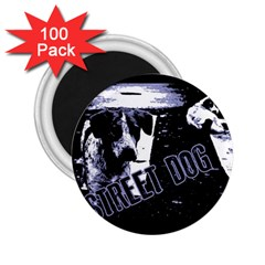 Street Dogs 2 25  Magnets (100 Pack)