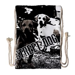 Street Dogs Drawstring Bag (large) by Valentinaart