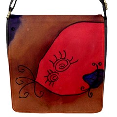 Red Worm Flap Messenger Bag (s)