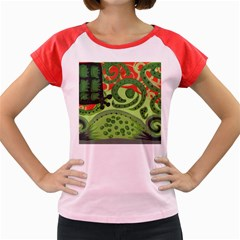 Turtle Women s Cap Sleeve T-shirt by snowwhitegirl