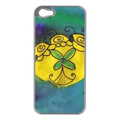 Cross Flowers Apple Iphone 5 Case (silver) by snowwhitegirl