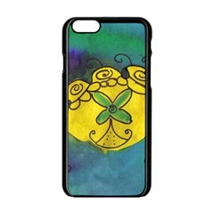 Cross Flowers Apple Iphone 6/6s Black Enamel Case by snowwhitegirl