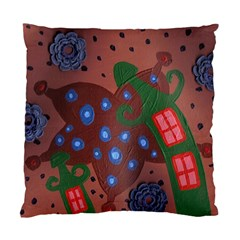 Slanted Green Houses Standard Cushion Case (two Sides)