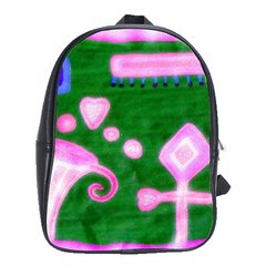 Hearts For The Pink Cross School Bag (large) by snowwhitegirl