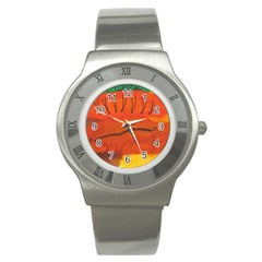 Guy With Weird Haircut Stainless Steel Watch by snowwhitegirl