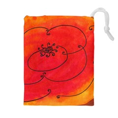 Flower Drawstring Pouches (extra Large) by snowwhitegirl
