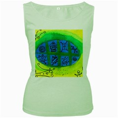 Window Egg Women s Green Tank Top