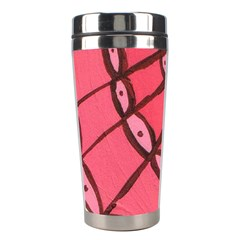 Red Fan Stainless Steel Travel Tumblers by snowwhitegirl