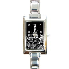 Moscow Rectangle Italian Charm Watch by Valentinaart