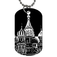 Moscow Dog Tag (one Side) by Valentinaart