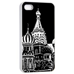 Moscow Apple Iphone 4/4s Seamless Case (white) by Valentinaart