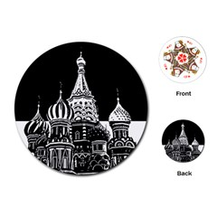 Moscow Playing Cards (round)  by Valentinaart
