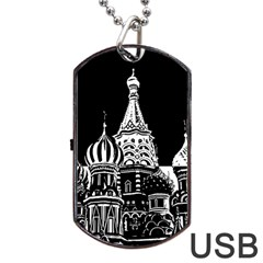 Moscow Dog Tag Usb Flash (one Side) by Valentinaart
