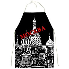 Moscow Full Print Aprons by Valentinaart