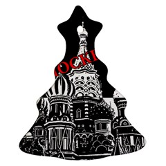Moscow Christmas Tree Ornament (two Sides) by Valentinaart