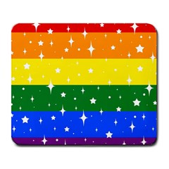 Sparkly Rainbow Flag Large Mousepads by Valentinaart