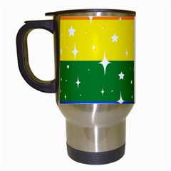 Sparkly Rainbow Flag Travel Mugs (white) by Valentinaart