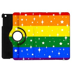 Sparkly Rainbow Flag Apple Ipad Mini Flip 360 Case