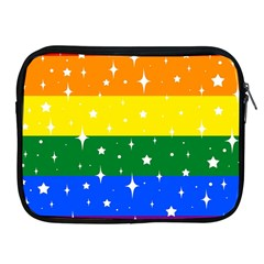 Sparkly Rainbow Flag Apple Ipad 2/3/4 Zipper Cases by Valentinaart