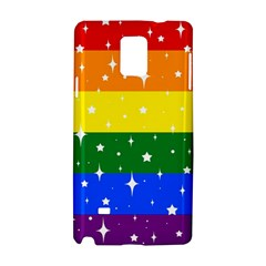 Sparkly Rainbow Flag Samsung Galaxy Note 4 Hardshell Case by Valentinaart