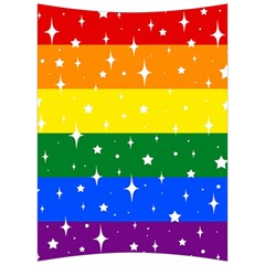 Sparkly Rainbow Flag Back Support Cushion by Valentinaart