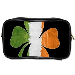 Irish Clover Toiletries Bags by Valentinaart
