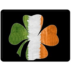 Irish Clover Fleece Blanket (large)  by Valentinaart