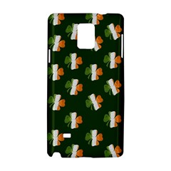 Irish Clover Samsung Galaxy Note 4 Hardshell Case by Valentinaart